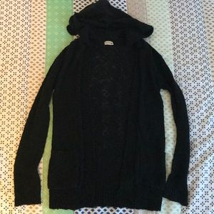 Girls knit hooded cardigan